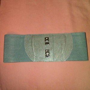 ❤3/$30 Wide Vegan Grey Belt Stretchy Waist Cincher